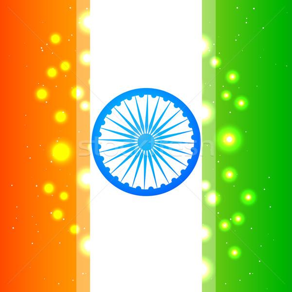 shiny indian flag Stock photo © Pinnacleanimates
