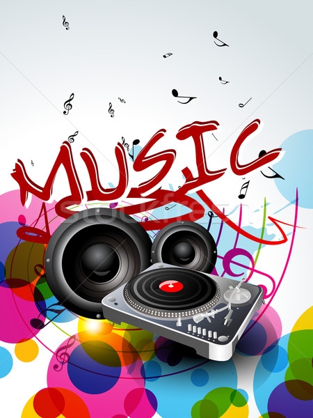 abstract music background design Stock photo © Pinnacleanimates