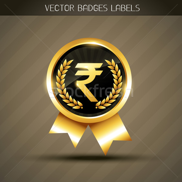 rupee symbol vector Stock photo © Pinnacleanimates