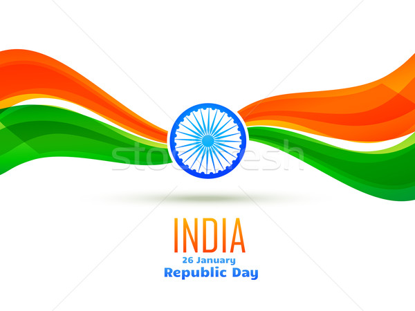 republic day design made in wave style Stock photo © Pinnacleanimates