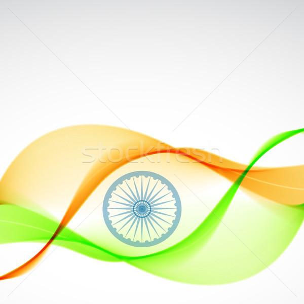 Elegante indian bandiera design bella arte Foto d'archivio © Pinnacleanimates