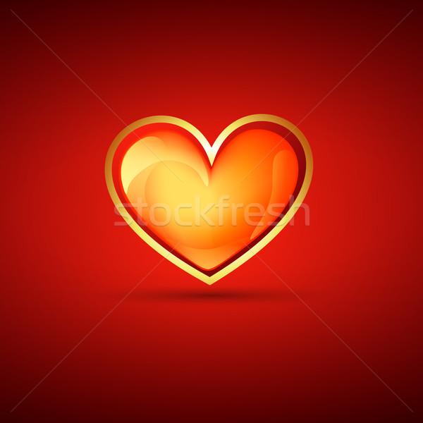 Сток-фото: Валентин · день · сердце · вектора · иллюстрация · любви