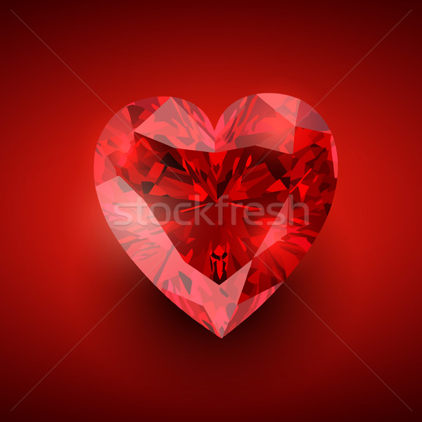 Diamant hart vector illustratie liefde Stockfoto © Pinnacleanimates