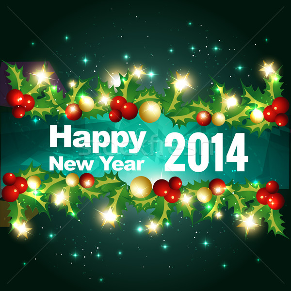 stylish new year greeting Stock photo © Pinnacleanimates