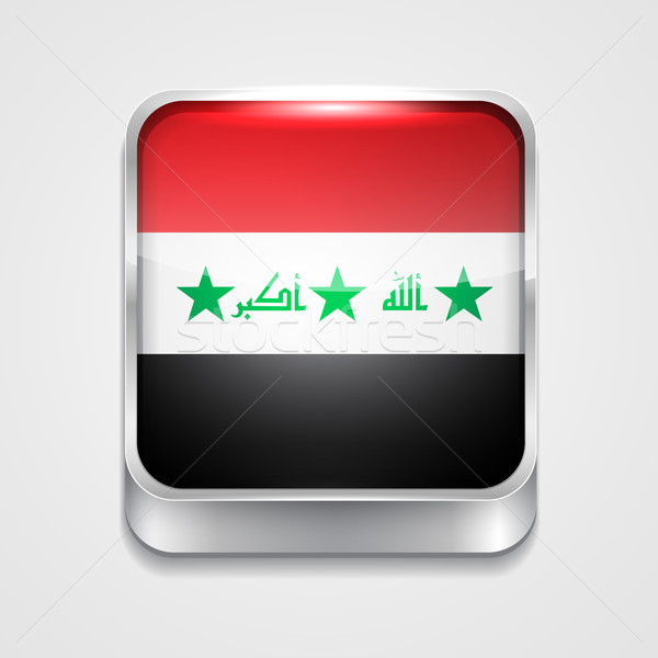 Vlag Irak vector 3D stijl icon Stockfoto © Pinnacleanimates