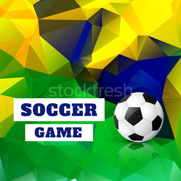 Fútbol diseno vector arte fondo deportes Foto stock © Pinnacleanimates