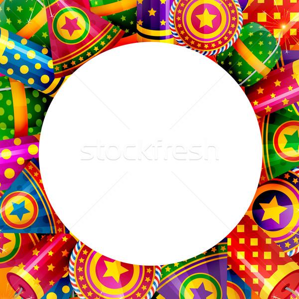 Background of diwali crackers  Stock photo © Pinnacleanimates