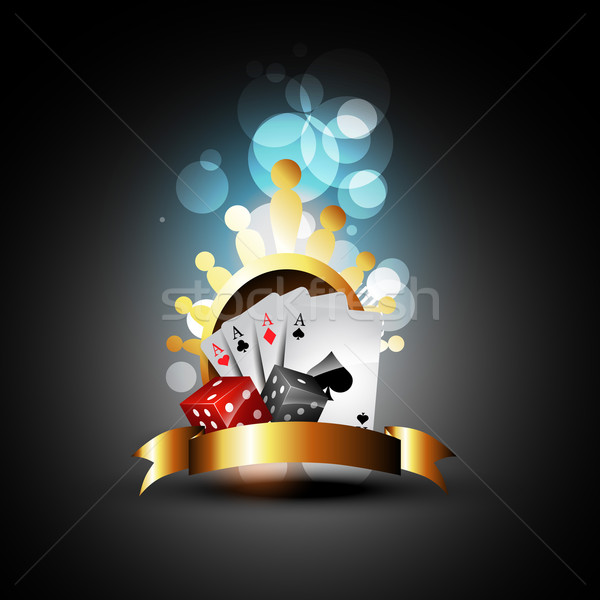 vector playing card and dices Stock photo © Pinnacleanimates
