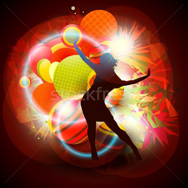 Stock fotó: Vektor · tánc · lány · tánc · absztrakt · művészet
