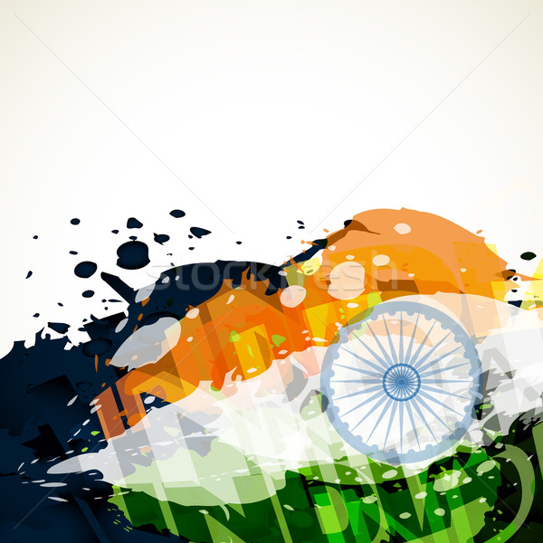 Grunge stijl vector vlag abstract indian Stockfoto © Pinnacleanimates