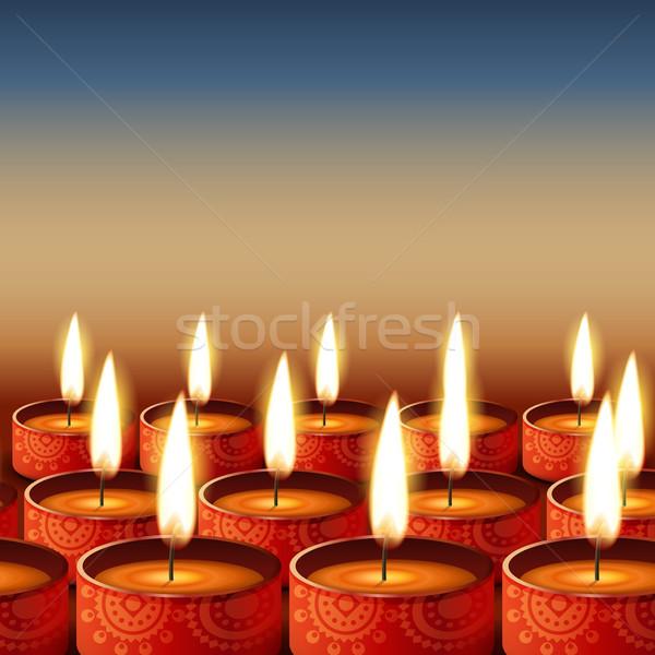 beautiful happy diwali Stock photo © Pinnacleanimates