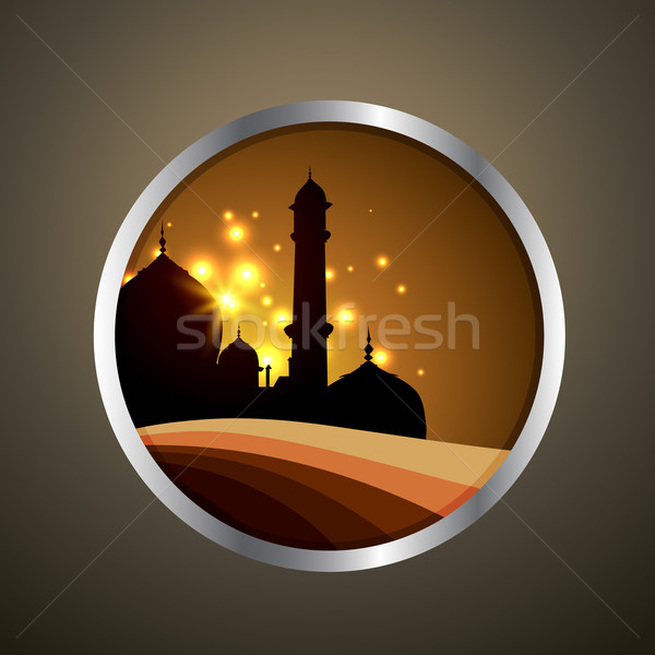 vector ramadan label Stock photo © Pinnacleanimates
