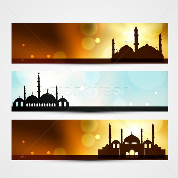ramadan and eid headers Stock photo © Pinnacleanimates