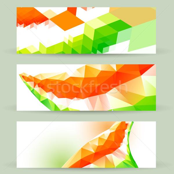 colorful indian flag headers Stock photo © Pinnacleanimates