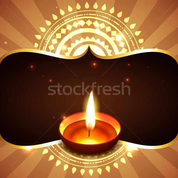 Creativa diwali vector feliz luz diseno Foto stock © Pinnacleanimates