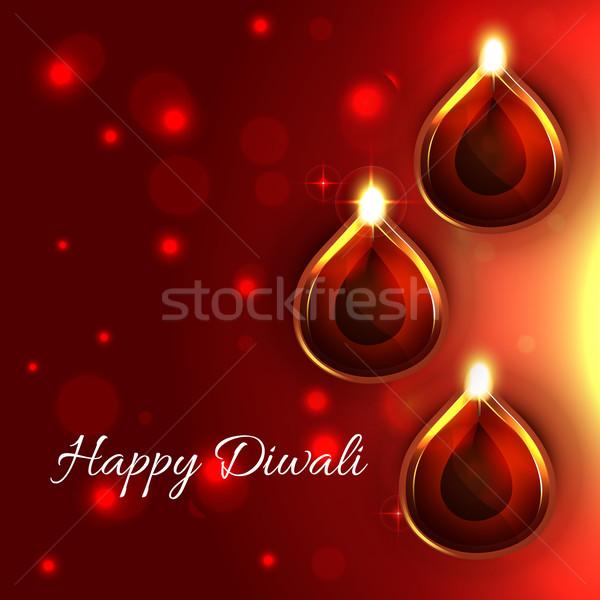 stylish happy diwali  background Stock photo © Pinnacleanimates