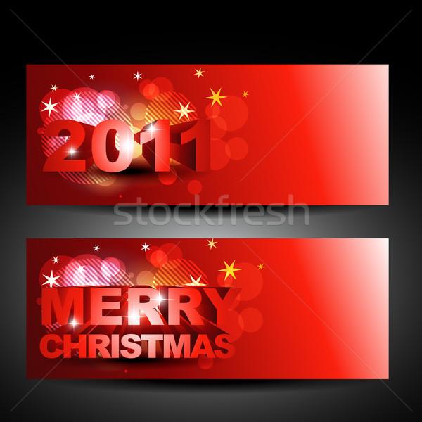 Vector Navidad año nuevo diseno fondo Foto stock © Pinnacleanimates
