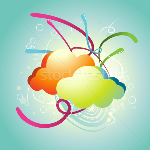 Abstract Cloud vector Stock photo © Pinnacleanimates
