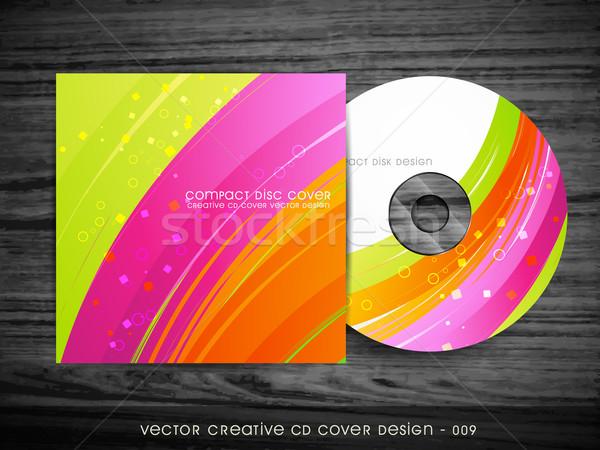 Güzel cd kapak dizayn dalga stil Stok fotoğraf © Pinnacleanimates