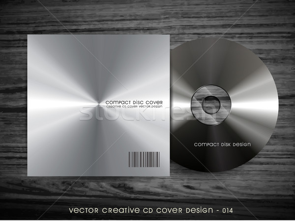 Métal cd couvrir style design ordinateur Photo stock © Pinnacleanimates