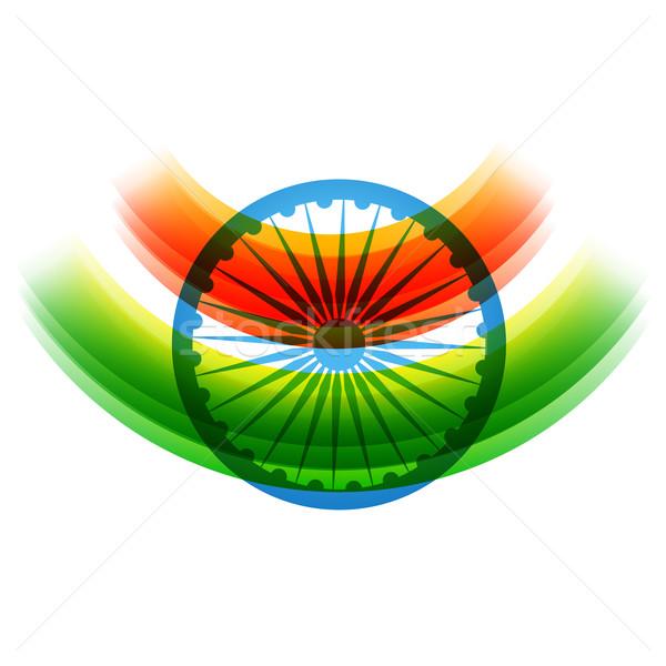 Yaratıcı Hint bayrak dizayn vektör dalga Stok fotoğraf © Pinnacleanimates