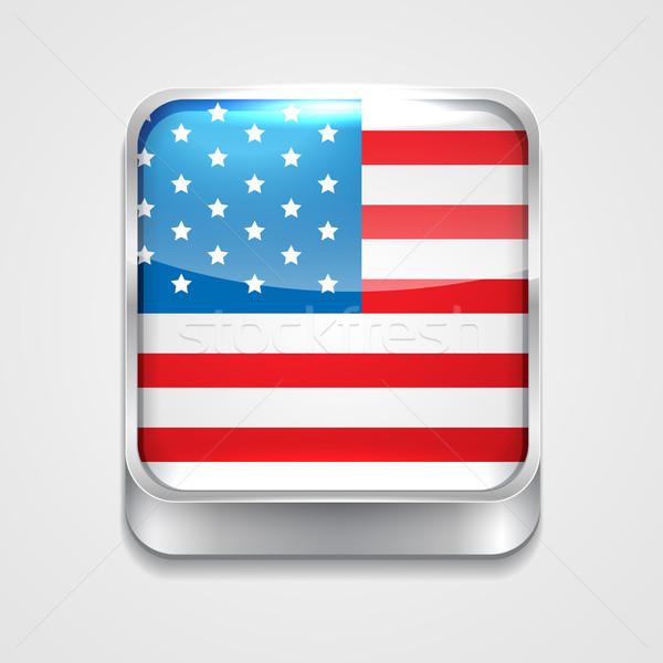 flag of united state Stock photo © Pinnacleanimates