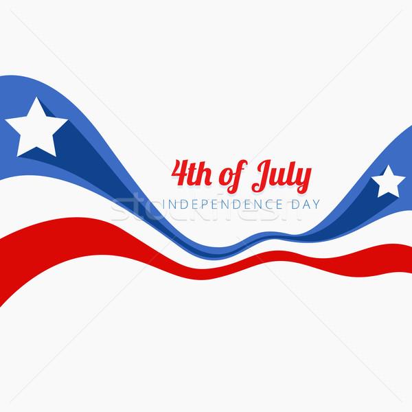Hullám stílus negyedike amerikai csillag szabadság Stock fotó © Pinnacleanimates