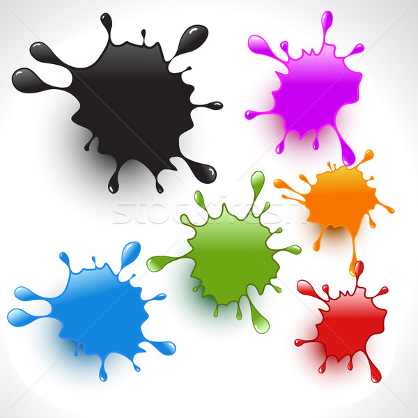 Colorato vernice set vettore arte Foto d'archivio © Pinnacleanimates