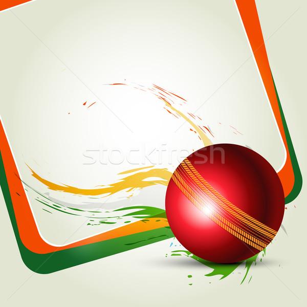 クリケット ボール 抽象的な 夏 楽しい チーム ストックフォト © Pinnacleanimates