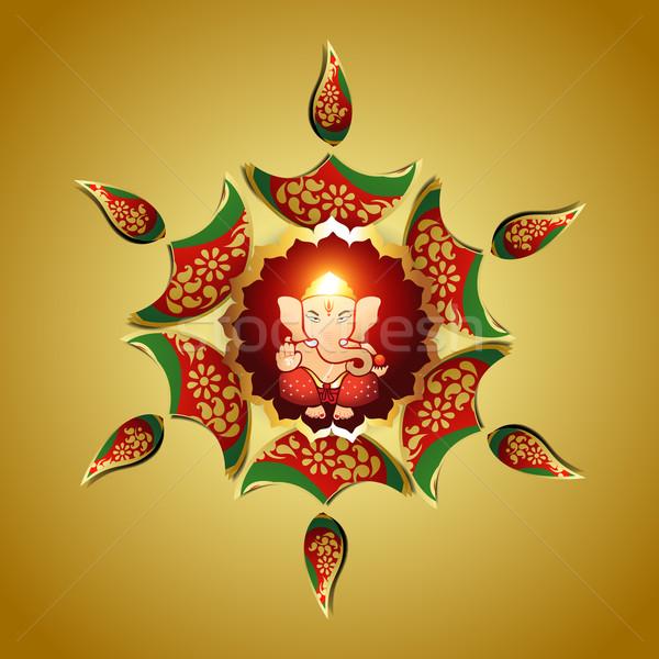 God mooie vector ontwerp indian kunst Stockfoto © Pinnacleanimates