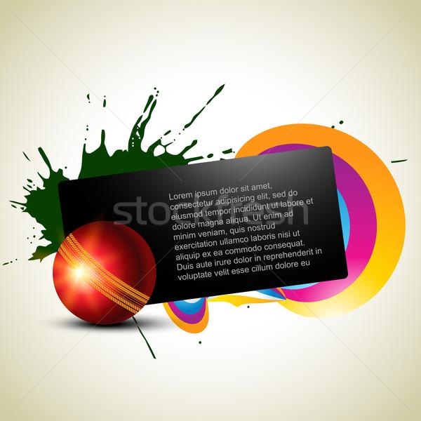 Críquete abstrato bola artístico verão equipe Foto stock © Pinnacleanimates