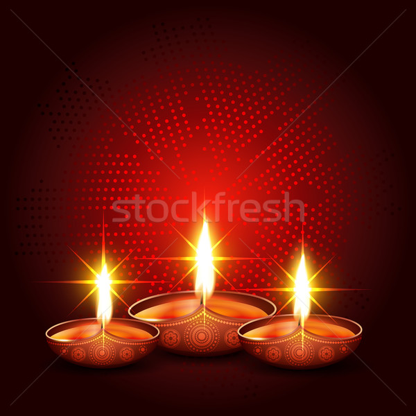 shiny diwali diya Stock photo © Pinnacleanimates