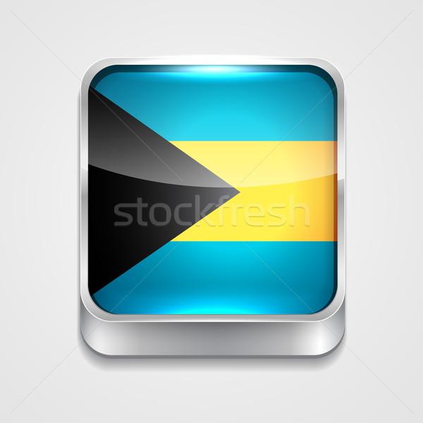 Bandeira Bahamas vetor 3D estilo ícone Foto stock © Pinnacleanimates