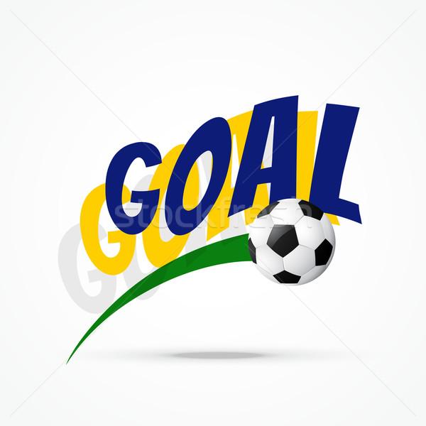Vector fútbol diseno objetivo arte fondo Foto stock © Pinnacleanimates