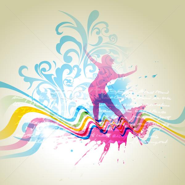 Stock fotó: Absztrakt · vektor · lány · tánc · tánc · művészet