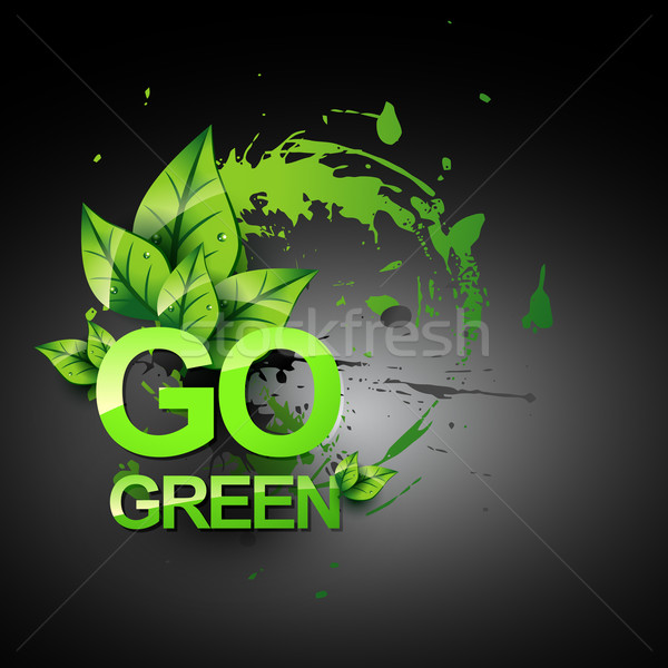 Stock photo: go green vecto symbol style design