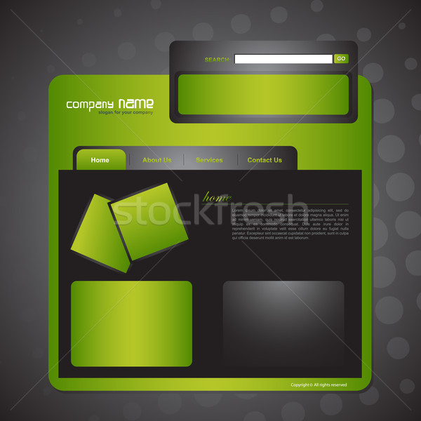 Website template Stock photo © Pinnacleanimates