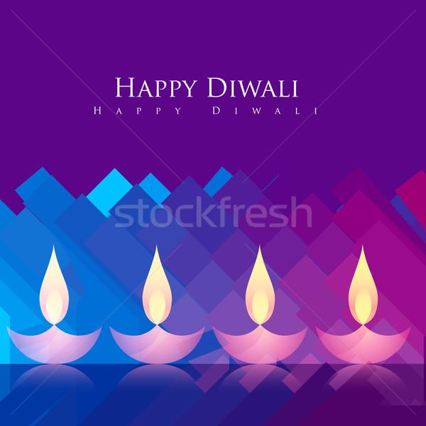 beautiful diwali background Stock photo © Pinnacleanimates