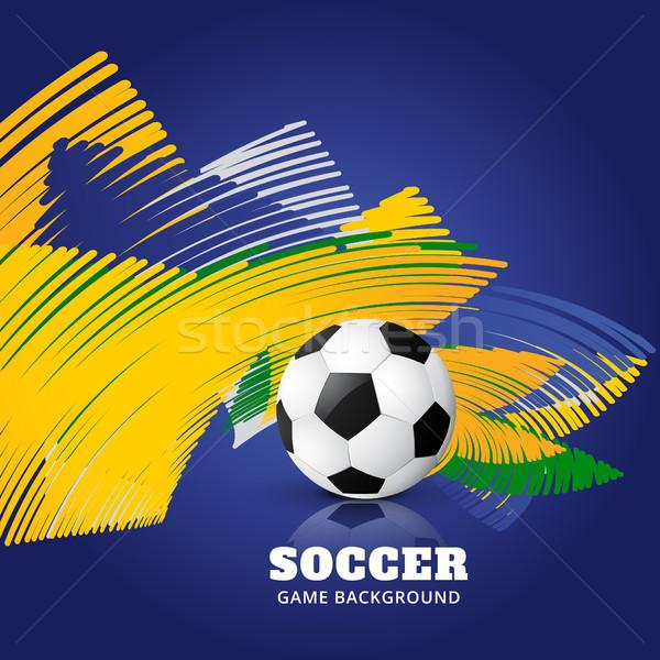 Abstrato jogo de futebol Brasil futebol jogo futebol Foto stock © Pinnacleanimates