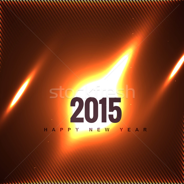 creative 2015 new year design on fire Stock photo © Pinnacleanimates
