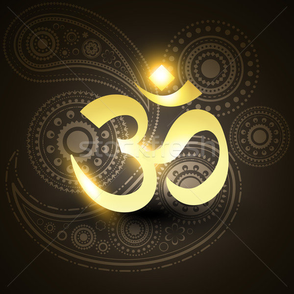 beautiful vector golden om symbol  Stock photo © Pinnacleanimates