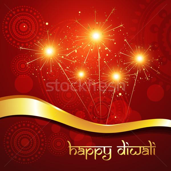 beautiful hindu diwali festival vector art  Stock photo © Pinnacleanimates
