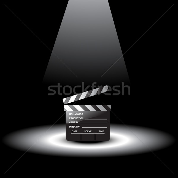 vector clapperboard Stock photo © Pinnacleanimates