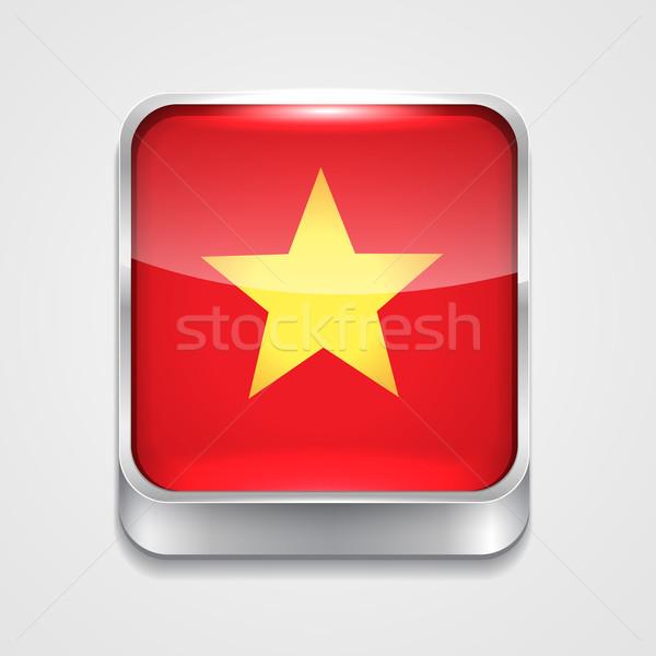 Pavillon Viêt-Nam vecteur 3D style icône Photo stock © Pinnacleanimates