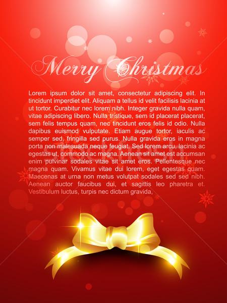 クリスマス 美しい リボン 光 雪 ストックフォト © Pinnacleanimates