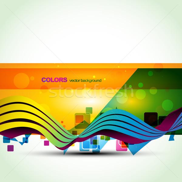 Foto stock: Colorido · banner · vector · diseno · eps10 · ilustración