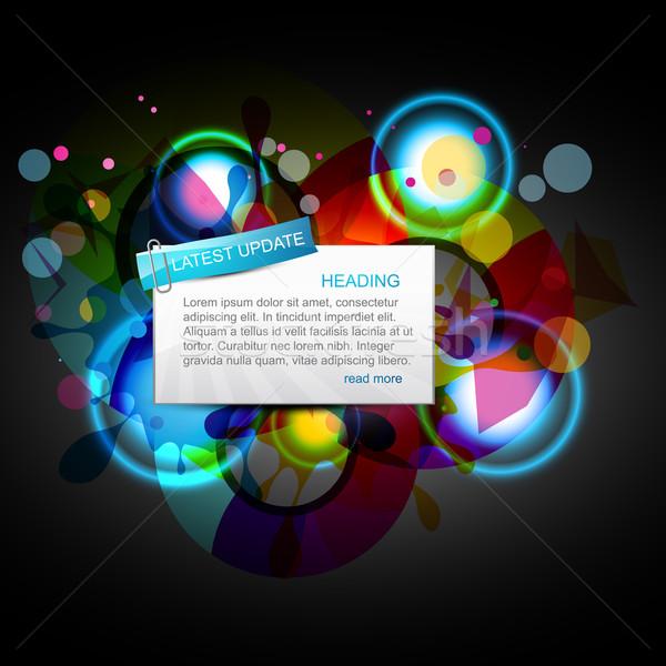 ウェブ 抽象的な フレーム オレンジ 青 ストックフォト © Pinnacleanimates