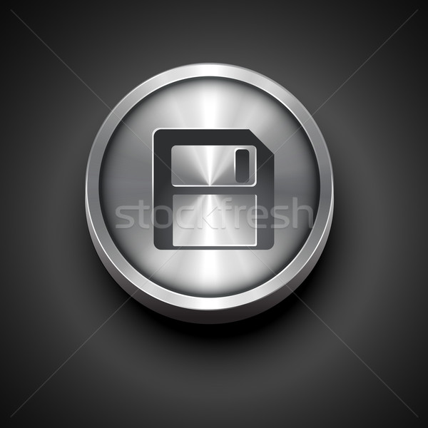 floppy disk icon Stock photo © Pinnacleanimates