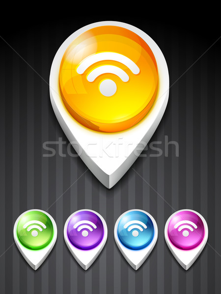 Rss icon vector rss feed ontwerp kunst Stockfoto © Pinnacleanimates