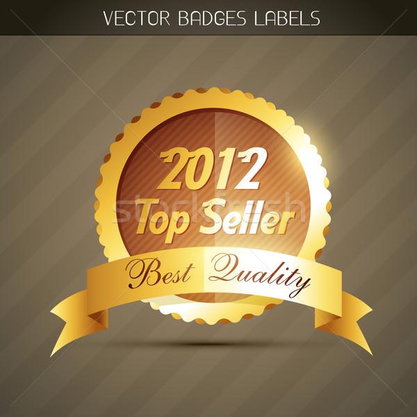 Top продавец Label год Знак дизайна Сток-фото © Pinnacleanimates